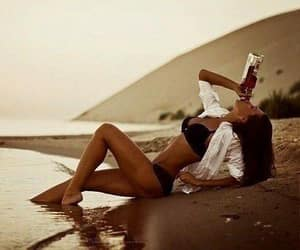 girl, beach, and sexy image