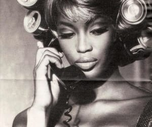 black and white, Naomi Campbell, and model image