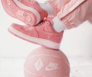 pink, basket, and Basketball image