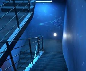 blue, galaxy, and light image
