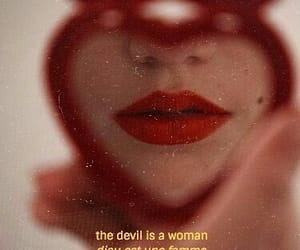 Devil, lips, and quotes image