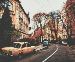 autumn, street, and view image