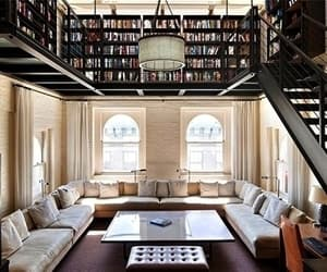 house, books, and library image