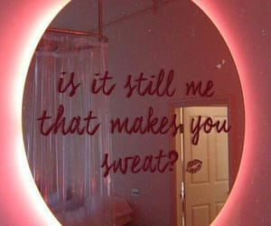 quotes, mirror, and pink image