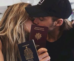 love, couple, and travel image