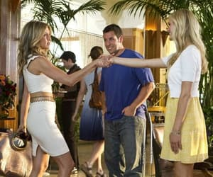 Jennifer Aniston, adam sandler, and just go with it image