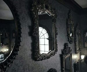 mirror, dark, and gothic image