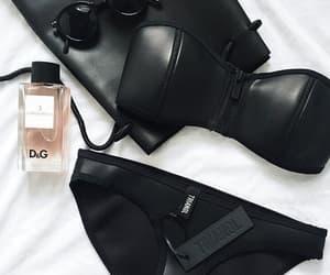black, bra, and sunglasses image