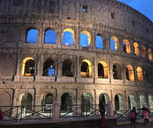 colosseo, night, and heart image