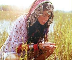 gypsy, hippie, and beauty image