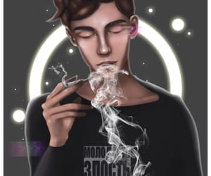 art, quote, and cigarettes image