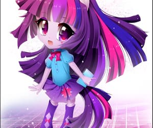 kawaii, my little pony, and twilight sparkle image