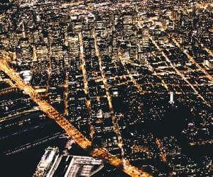 city, city lights, and travel image