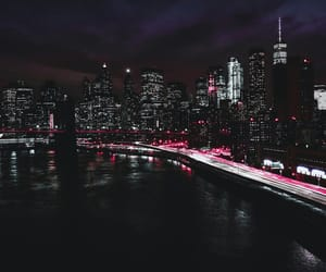 adventure, city at night, and pink image