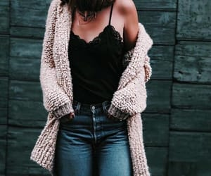 cardigan, fashion, and street image
