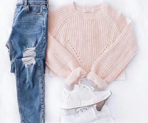 jeans, outfit, and pants image