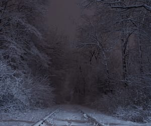 cold, railroad, and night image