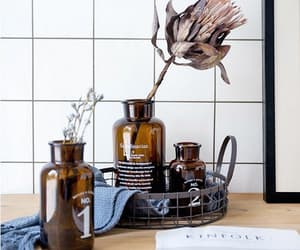 beautiful, glass bottles, and home decor image