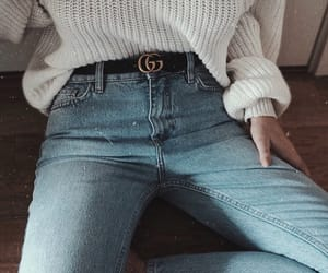belt, jeans, and outfit image