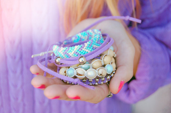 bracelet, purple, and fashion image