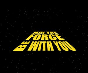 force, star wars, and may the force image