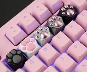 pink, keyboard, and cute image