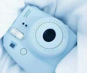 blue, camera, and polaroid image