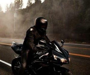 black, motorcycle, and road image