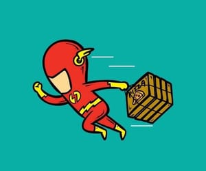 flash, funny, and pizza image
