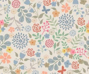 background, floral, and pattern image