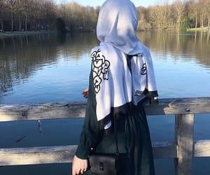 dress, fashion, and scarf image