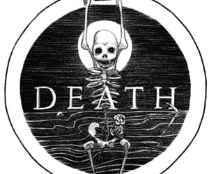 black and white, bones, and death image