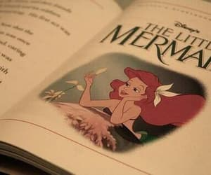 disney, book, and the little mermaid image