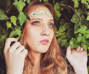 actress, girl, and plants image