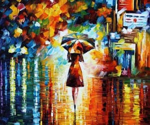rain, painting, and art image