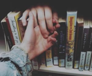 books, hands, and love image