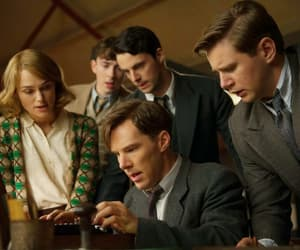 the imitation game, benedict cumberbatch, and keira knightley image