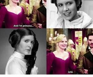 starwars, carriefisher, and ️ouat image