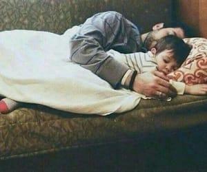 family, father, and sleep image
