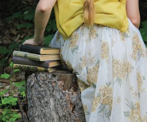 beautiful, book, and dress image