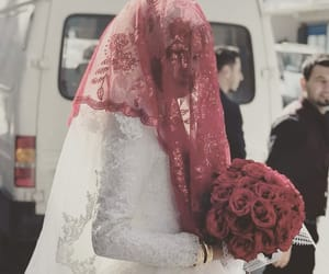 bride, roses, and wedding image