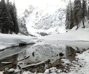 foto, lake, and mountain image