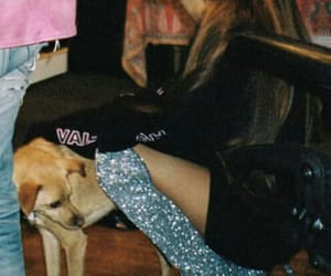 ariana grande, oversized hoodie, and sparkle boots image