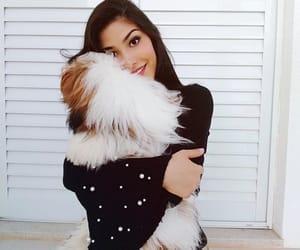 black, dog, and girl image
