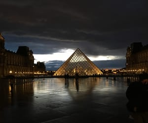 beautiful, lights, and louvre image
