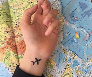 aesthetic, hand, and plane image