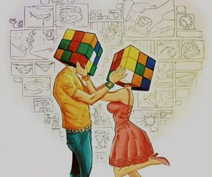 art, true love, and couple image