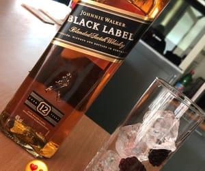 black, label, and drink image