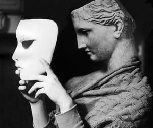 black and white, brigitte bardot, and mask image