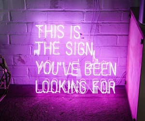 grunge, purple, and sign image